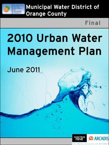 UWM Plan - Municipal Water District of Orange County