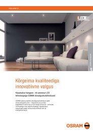 Uued allavalgustuslahendused - OSRAM