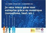 Je veux mieux gérer mon entreprise grâce au ... - (CCI) de l'Yonne