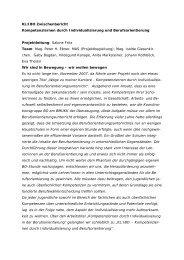 KLIBO Zwischenbericht Juni 2008 - Berufsorientierung