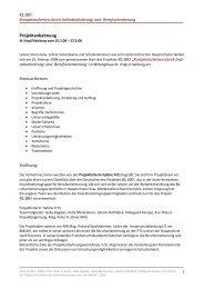 Protokoll Projektanbahnung - Berufsorientierung