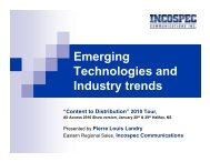 Emerging Technologies and Industry trends - Incospec ...