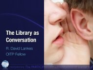 The Library as Conversation - Syracuse University