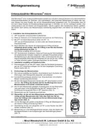 Montageanweisung Unterputzzähler Minomess® micro - Minol