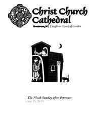 The Ninth Sunday after Pentecost - Christ Church Cathedral ...