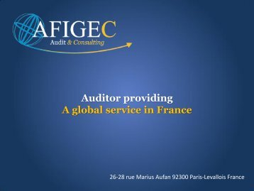 AFIGEC Auditor - A Global Service in France - PrimeGlobal