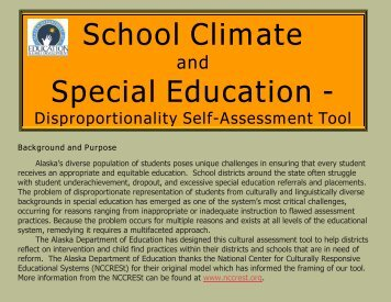 School Climate Special Education - - Alaska Department of ...