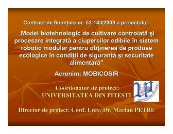 model biotehnologic de cultivare controlata si - Prezentare