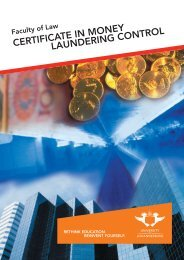 certificate in money laundering control - University of Johannesburg