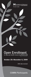 Open Enrollment Overview - Benefits Office - University of Michigan