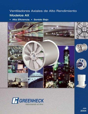 Ventiladores Axiales de Alto Rendimiento Modelos AX - Greenheck