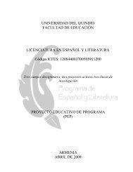 Proyectos Educativo de Programa (PEP). - Universidad del Quindio