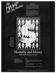 Page 1 Mortality and Money Mathematics and Life Insurance Page 2 ...