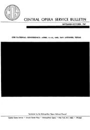 Central Opera Service Bulletin - September - October, 1967 - CPANDA