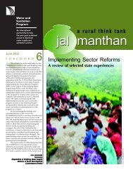 Jal Manthan 6: Implementing Sector Reforms - WSP