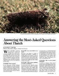 Answering the Most-Asked Questions About Thatch - USGA Green ...