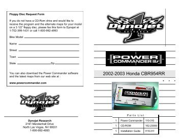 2002-2003 Honda CBR954RR - MPS Racing
