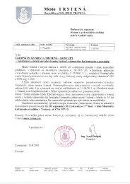 Oznámenie o začatí prerokovania - Mesto Trstená