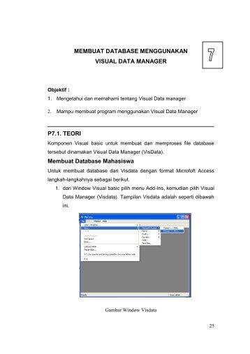 MEMBUAT DATABASE MENGGUNAKAN VISUAL DATA ... - iLab