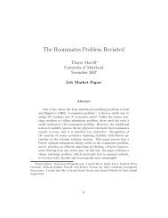 The Roommates Problem Revisited - Institute for Mathematical ...