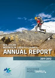 2011 - 2012 Annual Report - New Zealand Mountain Safety Council
