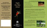 Mosquito Brochure - Ohio Department of Health