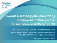 Clarissa Brocklehurst - WHO/UNICEF Joint Monitoring Programme