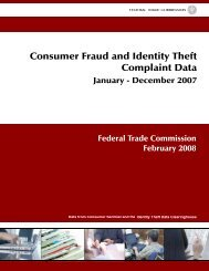 Consumer Fraud and Identity Theft Complaint Data - Federal Trade ...