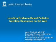 Finding Evidence-Based Pediatric Nutrition Resources on the Web