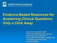 Evidence-Based Resources for Answering Clinical Questions