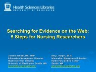Searching for Evidence on the Web: 5 Steps for Nursing Researchers.