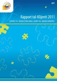 Rapport tal-Klijenti 2011 - Translation Centre for the Bodies of the ...