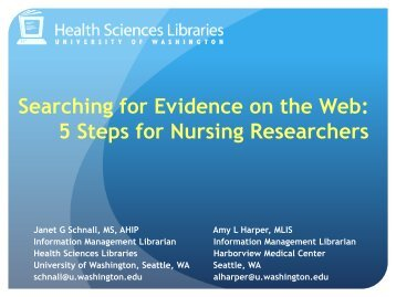 Searching for Evidence on the Web: 5 Steps for Nursing Researchers