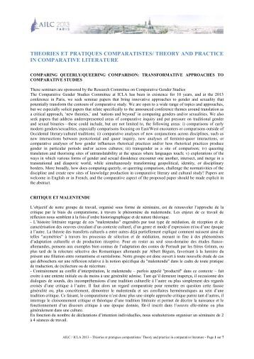 Phd thesis on comparative literature