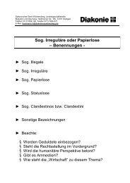 Sog. Irreguläre oder Papierlose - Mittendrinundaussenvor.de