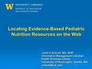 Locating Evidence-Based Pediatric Nutrition Resources on the Web