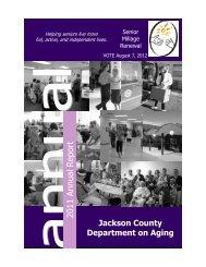 2011 Annual R eport - Jackson County, Michigan