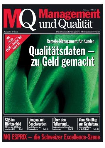 Qualitätsdaten zu Geld gemacht - Admec AG