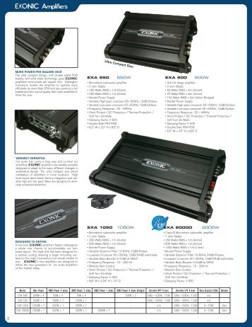EXONIC Amplifiers - Ample Audio