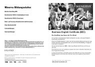 Business English Certificate (BEC) - Minerva