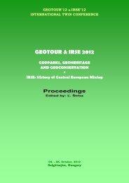 GEOTOUR & IRSE 2012.pdf - Fakulta BERG - TUKE