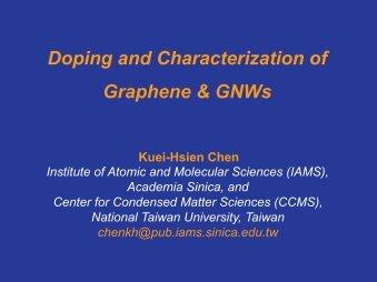Doping and characterization of graphene and graphene nanowalls