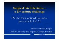 Surgical Site Infections – 21st t h ll a 21st century challenge SSI the ...