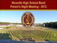 Niceville High School Band Parent's Night Meeting - 2012