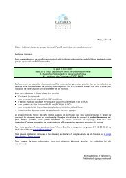 Paris, le 2 avril Objet : huitième réunion du groupe de travail ... - ANRT