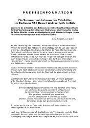 PRESSEINFORMATION Ein Sommernachtstraum ... - Die Wutzschleife