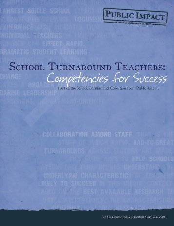 School Turnaround Teachers: Competencies for ... - Public Impact