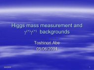 Higgs mass measurement and backgrounds - web007.slac.stanford ...
