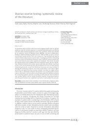 Ovarian reserve testing: systematic review of the ... - ResearchGate