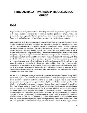 program rada hrvatskog prirodoslovnog muzeja - Zagreb.hr